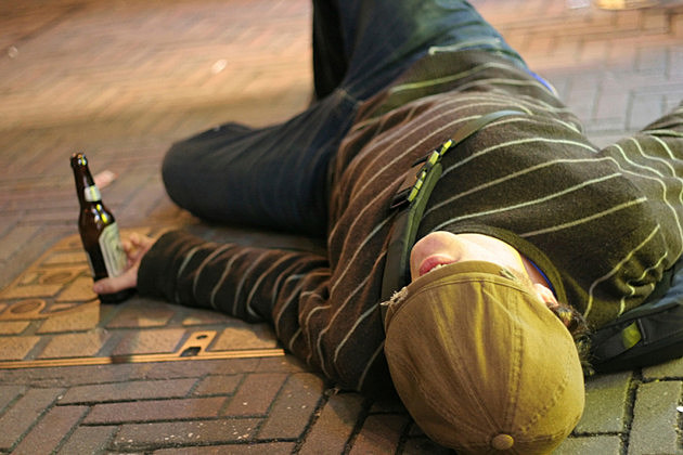 Drunk on Sidewalk